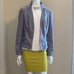 WHBM, grey velvet jacket size 12